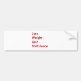 weight loss bumper sticker