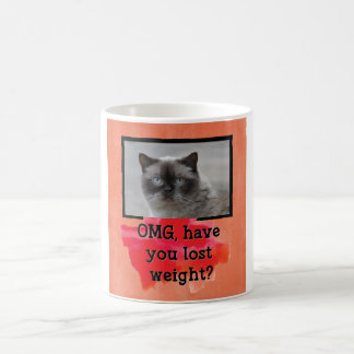 Weight Loss Custom Cat Photo Mug
