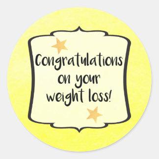 Weight Loss Diet Fitness Planner Congratulations Classic Round Sticker