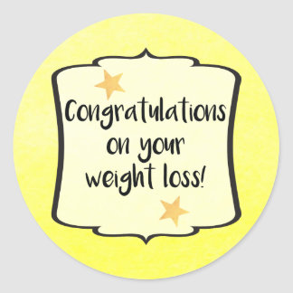 Weight Loss Diet Fitness Planner Congratulations Round Sticker
