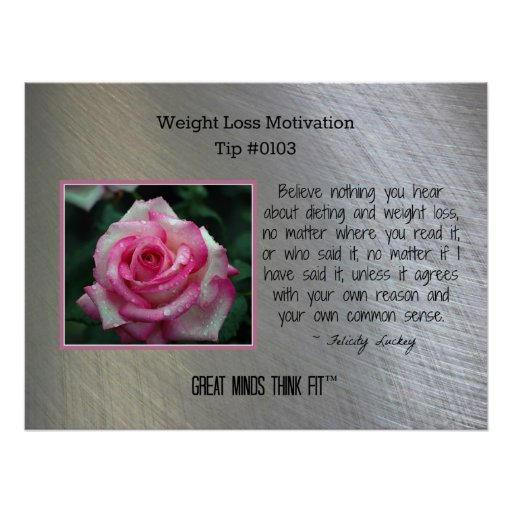 weight loss motivation poster tip  0103