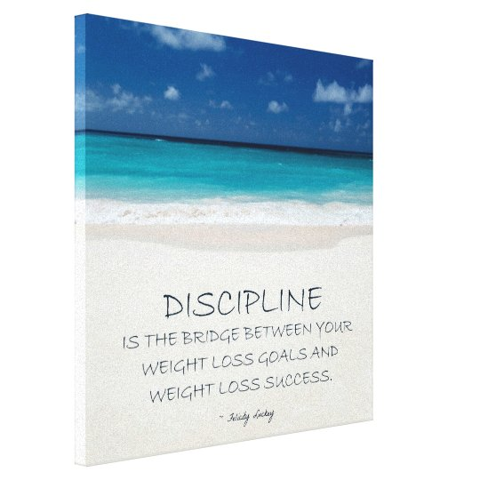 Weight Loss Motivational Canvas: Beach 03 Canvas Print