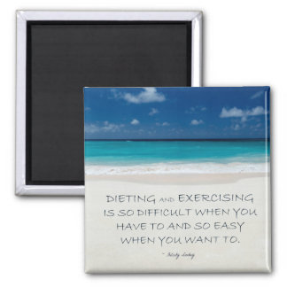 Weight Loss Motivational Magnet: Beach 04 Square Magnet