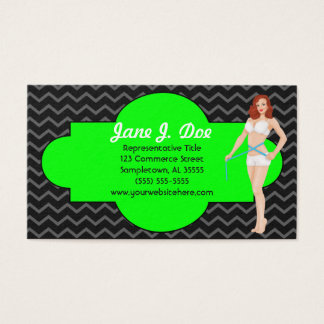 Weight Loss Pinup Chevron, It Works Business Card