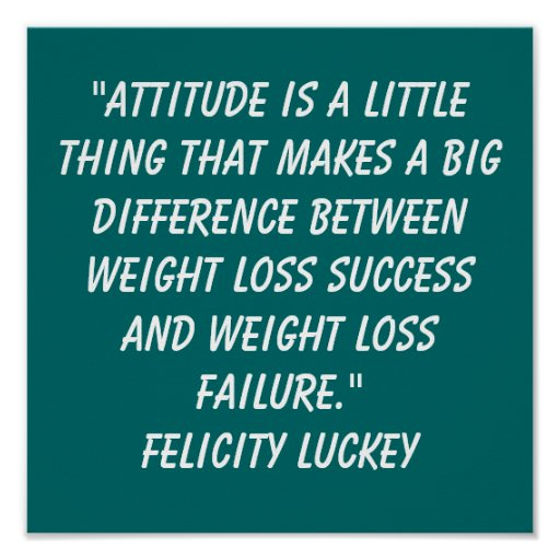 Weight Loss Quotes Poster