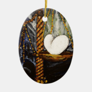 Weight of a heavy and light heart christmas ornament
