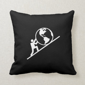 Weight of the World Pictogram Throw Pillow