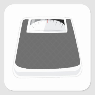 Weight Scale Square Sticker