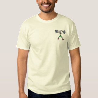 Weightlifter Embroidered T-Shirt