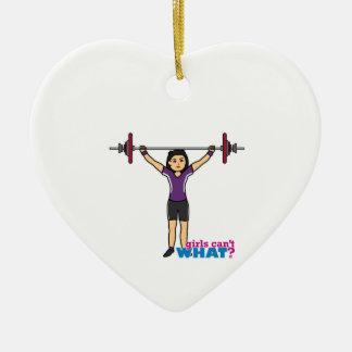 Weightlifter Girl - Medium Christmas Ornament