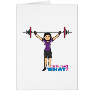 Weightlifter Girl - Medium Greeting Card