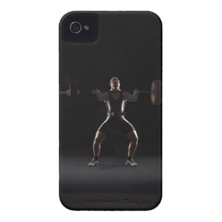 Weightlifter jerking weight iPhone 4 cases