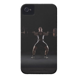 Weightlifter jerking weight iPhone 4 covers
