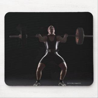 Weightlifter jerking weight mouse mat
