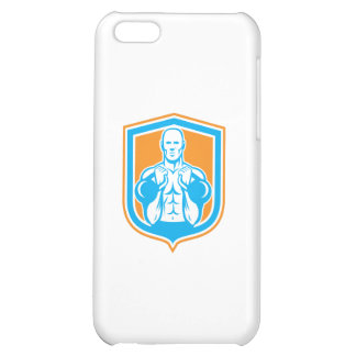 Weightlifter Lifting Kettlebell Shield Retro iPhone 5C Case