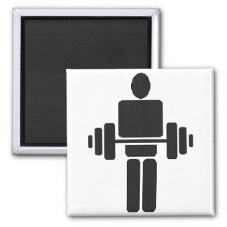 Weightlifter Square Magnet