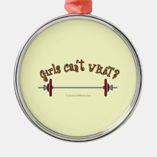 Weightlifting - Barbell Christmas Ornament