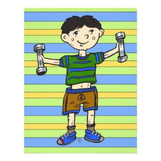 Weightlifting Boy 21.5 Cm X 28 Cm Flyer