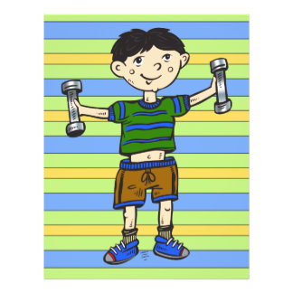 Weightlifting Boy Personalized Flyer