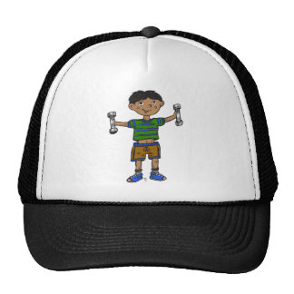 Weightlifting Boy Hats