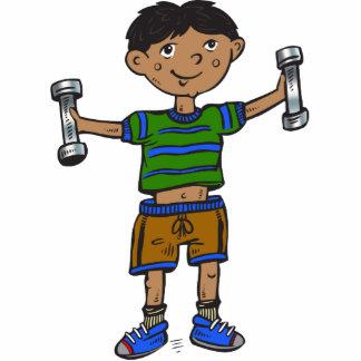 Weightlifting Boy Acrylic Cut Outs