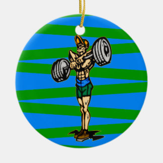 Weightlifting Christmas Tree Ornaments