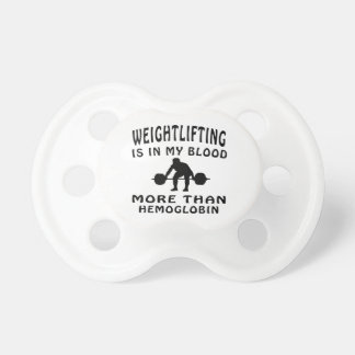 Weightlifting Design Pacifier