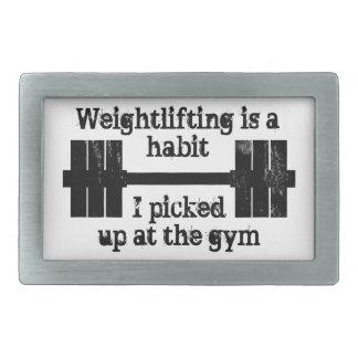Weightlifting Habit Belt Buckle