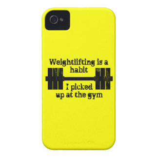 Weightlifting Habit iPhone 4 Cover