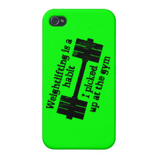 Weightlifting Habit iPhone 4 Cases