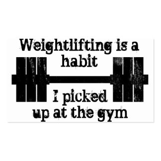 Weightlifting Habit Pack Of Standard Business Cards