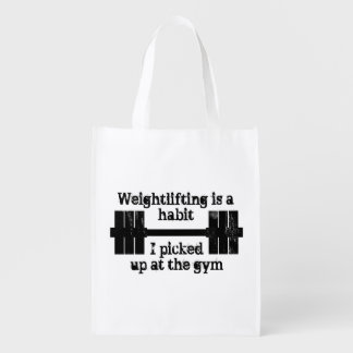 Weightlifting Habit Reusable Grocery Bag