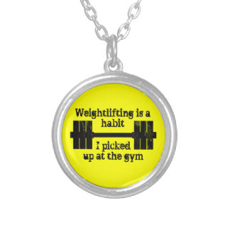 Weightlifting Habit Round Pendant Necklace