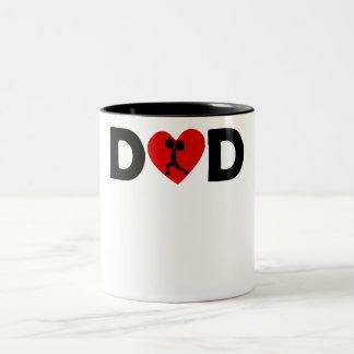 Weightlifting Heart Dad Mug