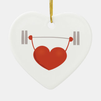 Weightlifting Heart Christmas Ornaments