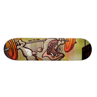 Weightlifting Hippopotamus Skate Boards