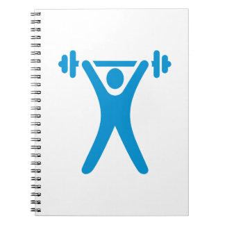 Weightlifting logo notebook