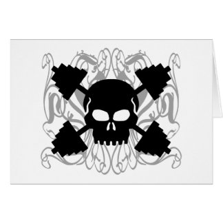 Weightlifting Skull Card