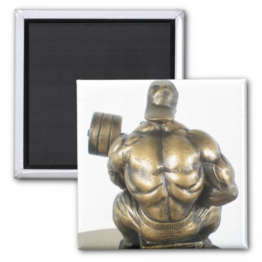 Weightlifting Square Magnet