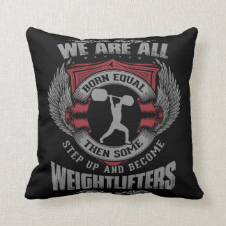 Weightlifting - Step Up - Workout Motivational Throw Cushion