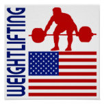 Weightlifting United States Poster