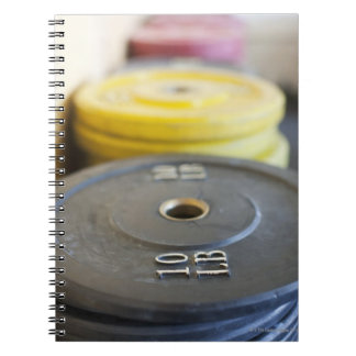 Weights at Gym, Newport Beach, Orange County, Spiral Notebook