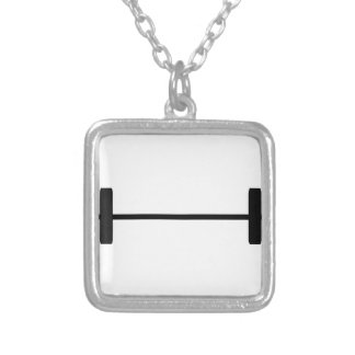 Weights Square Pendant Necklace