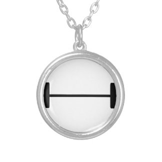 Weights Round Pendant Necklace