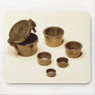 Weights used by merchants and apothecaries mouse mat