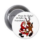 Weihnachtsmann mit Elch Anstecknadelbutton