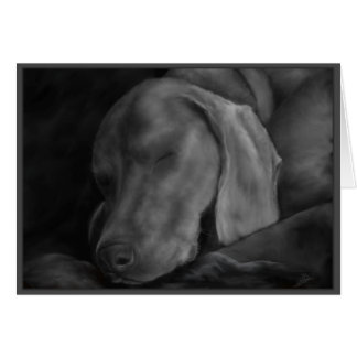 Weim Dreams Note Card