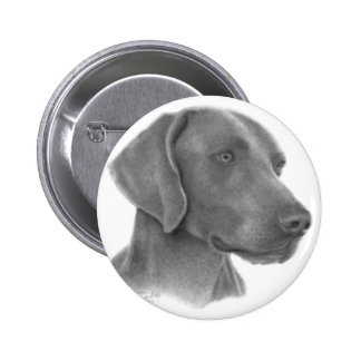 Weimaraner 6 Cm Round Badge