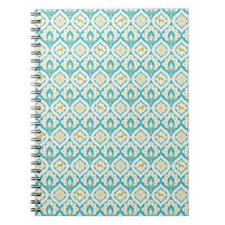 WEIMARANER AND PEACOCK FEATHERS NOTEBOOK