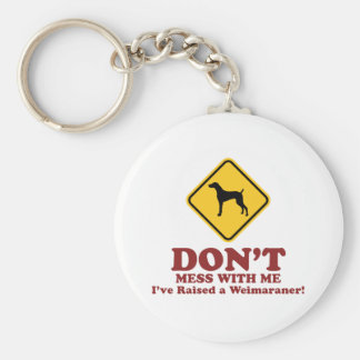 Weimaraner Basic Round Button Key Ring